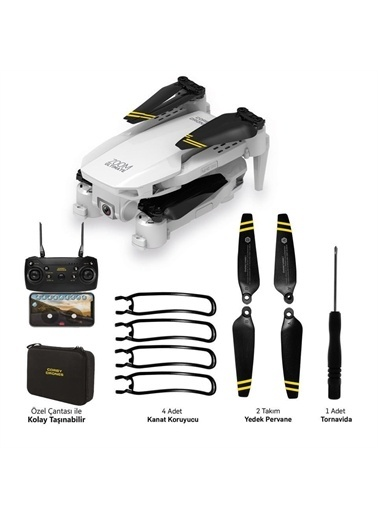 Corby Corby Cx017 1080P Wifi Çift Kameralı Katlanabir Drone Renkli